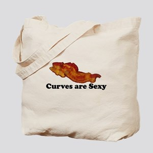 Curves are Sexy Bacon Tote Bag