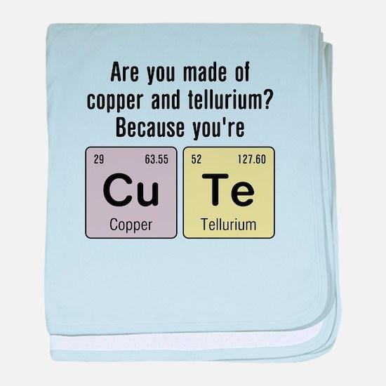 Cu Te (Cute) Chemistry baby blanket