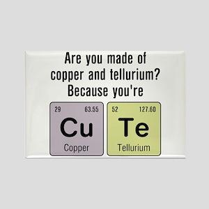 Cu Te (Cute) Chemistry Rectangle Magnet