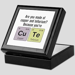 Cu Te (Cute) Chemistry Keepsake Box