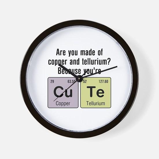 Cu Te (Cute) Chemistry Wall Clock