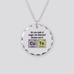 Cu Te (Cute) Chemistry Necklace Circle Charm