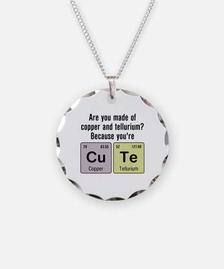 Cu Te (Cute) Chemistry Necklace