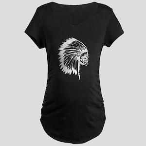 Native American Skull Maternity T-Shirt