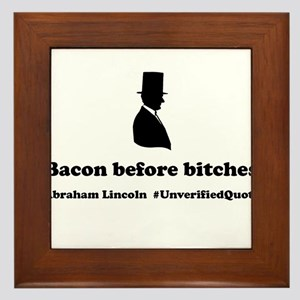 Bacon Before Bitches Framed Tile