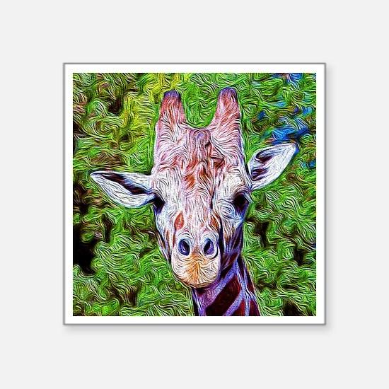 "Stylized Giraffe Square Sticker 3"" x 3"""