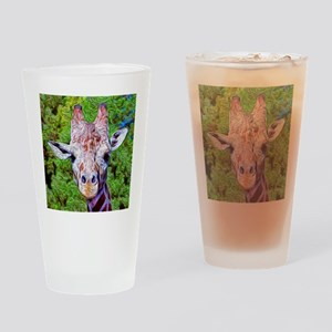 Stylized Giraffe Drinking Glass