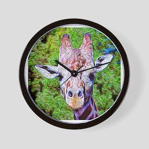 Stylized Giraffe Wall Clock