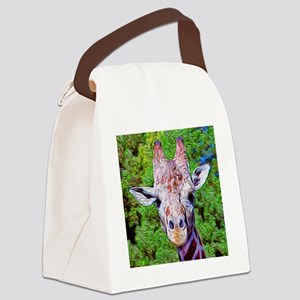 Stylized Giraffe Canvas Lunch Bag