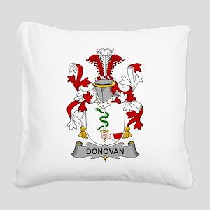 Donovan Family Crest Square Canvas Pillow