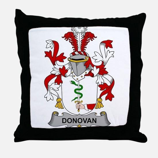 Donovan Family Crest Throw Pillow
