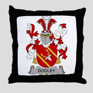 Dooley Family Crest Throw Pillow