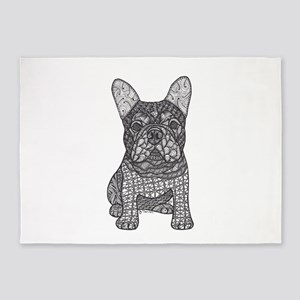 My Love- French Bulldog 5'x7'Area Rug