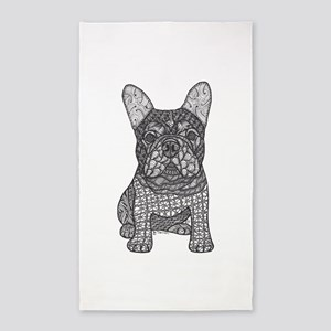 My Love- French Bulldog 3'x5' Area Rug