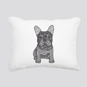 My Love- French Bulldog Rectangular Canvas Pillow
