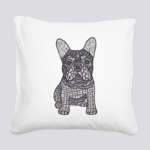 My Love- French Bulldog Square Canvas Pillow