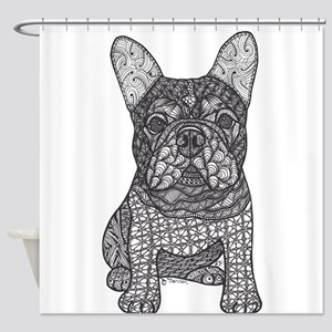 My Love- French Bulldog Shower Curtain