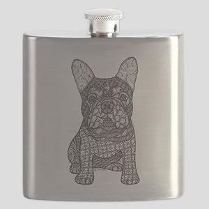 My Love- French Bulldog Flask