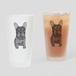 My Love- French Bulldog Drinking Glass