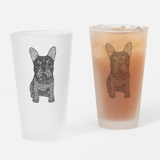 My Love- French Bulldog Drinking Glass