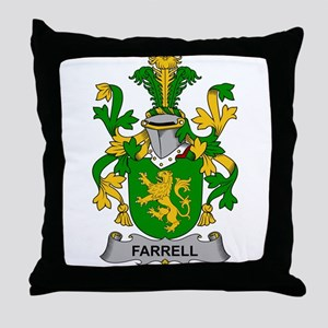 Farrell Family Crest Throw Pillow