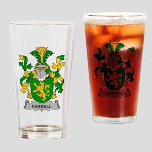 Farrell Family Crest Drinking Glass