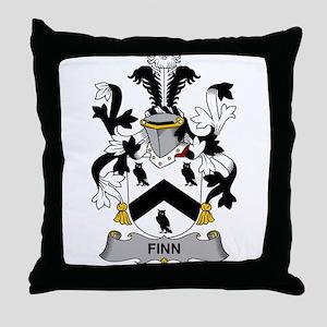 Finn Family Crest Throw Pillow