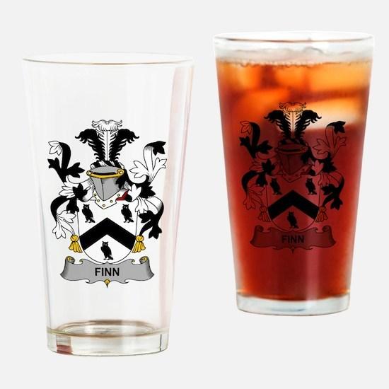 Finn Family Crest Drinking Glass