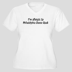 Allergic to Philadelphia Chee Women's Plus Size V-
