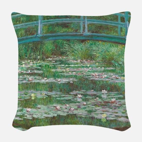 Claude Monet - The Japanese Fo Woven Throw Pillow