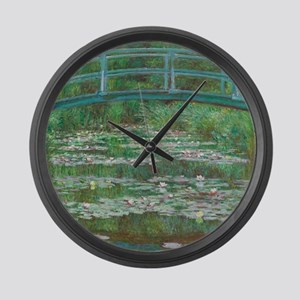 Claude Monet - The Japanese Footb Large Wall Clock