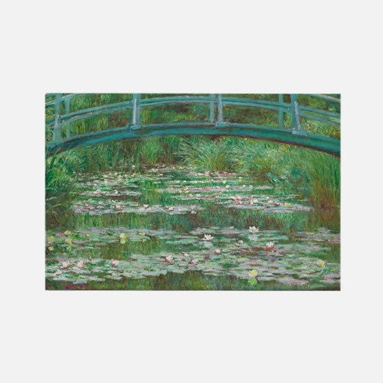 Claude Monet - The Japanese Footb Rectangle Magnet