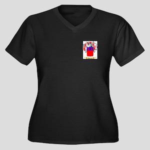 Dumont Women's Plus Size V-Neck Dark T-Shirt