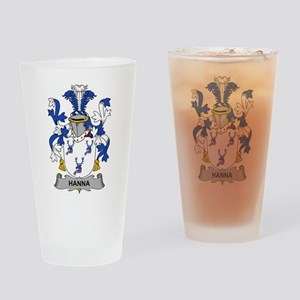 Hanna Family Crest Drinking Glass