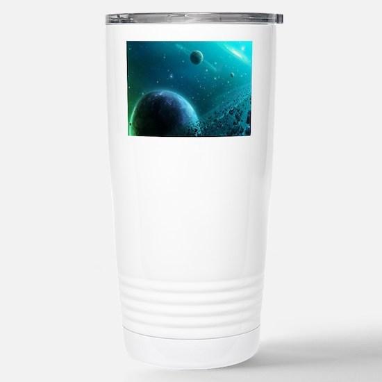 Galaxy of blue. Stainless Steel Travel Mug