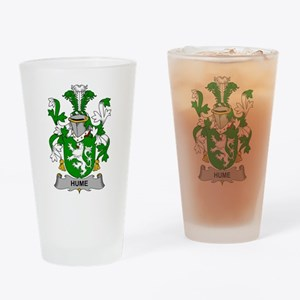 Hume Family Crest Drinking Glass