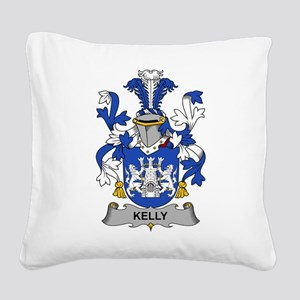 Kelly Family Crest Square Canvas Pillow