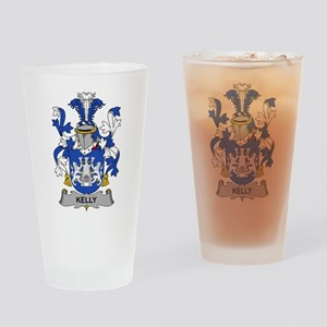 Kelly Family Crest Drinking Glass