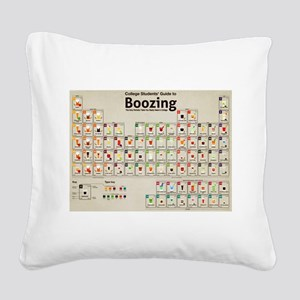 Periodic Table of Alcohol Square Canvas Pillow