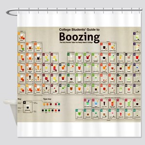 Periodic Table of Alcohol Shower Curtain