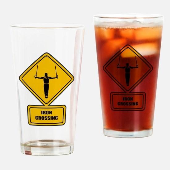 Iron Crossing Drinking Glass