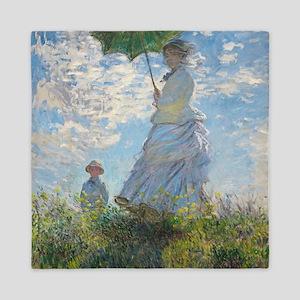 Claude Monet - Woman with a Parasol Queen Duvet