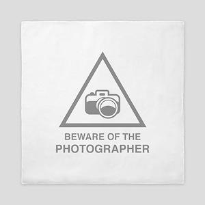 Beware Of The Photographer Queen Duvet