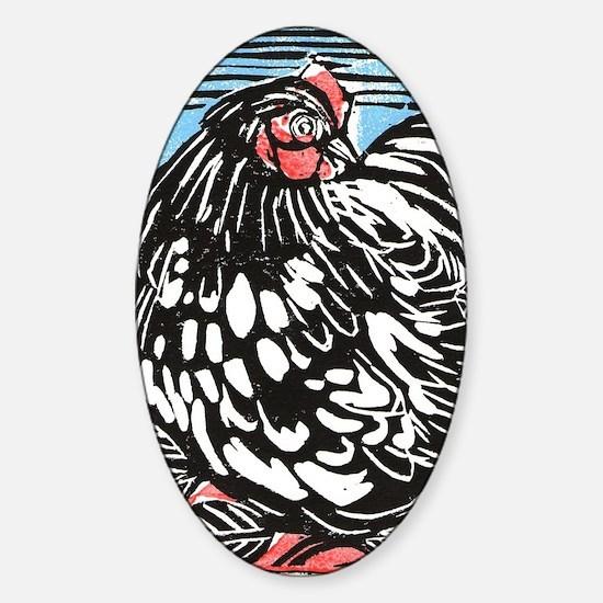 Happy Hen Sticker (Oval)