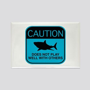 Caution - Does Not Play Well With Others Rectangle