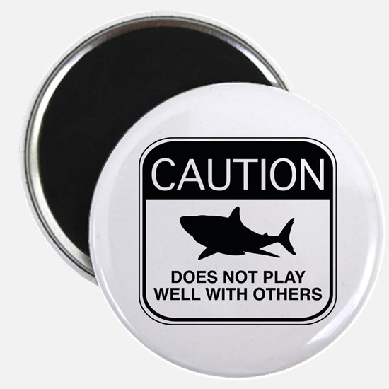 Caution - Does Not Play Well With Others Magnet