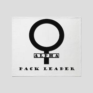 Alpha Female Pack Leader Throw Blanket