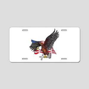 USA Eagle with Cross Aluminum License Plate