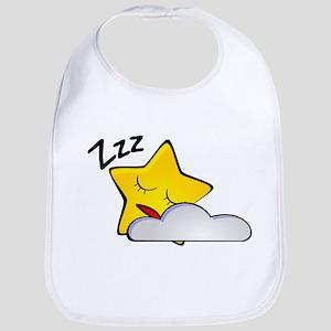 Sleeping Star Cartoon Bib