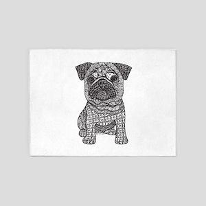 Pug Love 5'x7'Area Rug